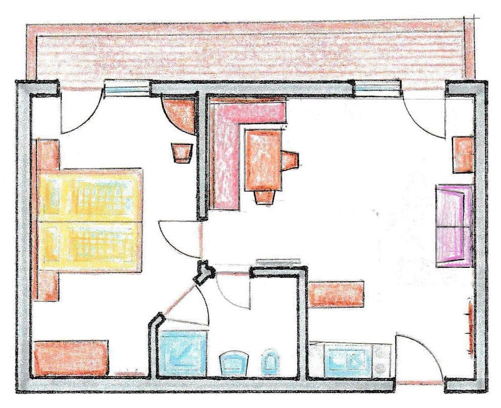 ferienwohnung ii f r 2 4 personen im haus bergkristall ihre unterkunft in lermoos. Black Bedroom Furniture Sets. Home Design Ideas